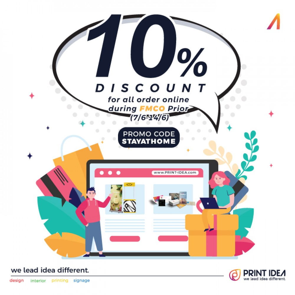 10% Discount for oders online