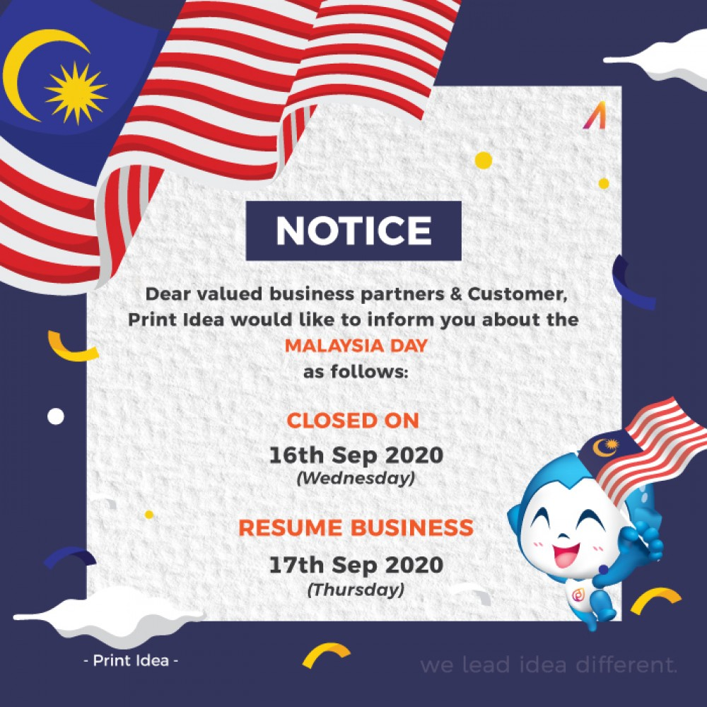 Malaysia Day Announcement