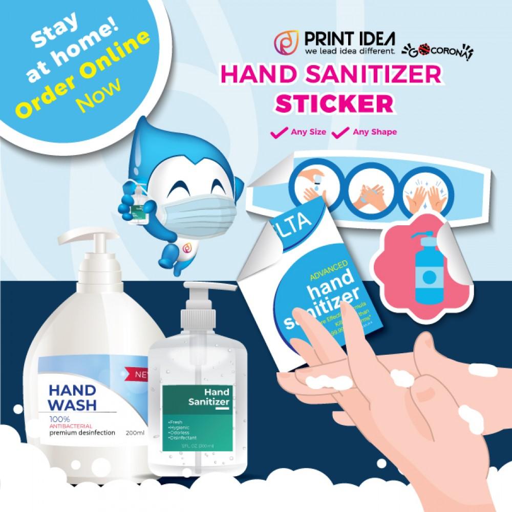 Hand Sanitizer Sticker Promotion